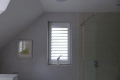 Single Waterproof Shutter Fitted to Bathroom Window