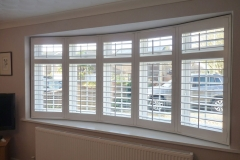 White Shutters Fitted to Rounded Bay Window
