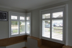 Shutters Fitted to Corner Window From Large Square Bay