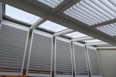White Shutters Fitted to Conservatory Roof
