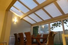 Internal Plantation Shutters Fitted To Conservatory Roof