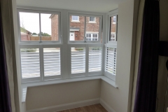 Half Height Shutters in Square Bay Window