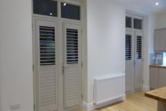 Colour Matched Grey Shutters Fitted to Kitchen Doors Kitchen Doors