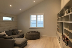Simple Window in Lounge with White Plantation Shutters