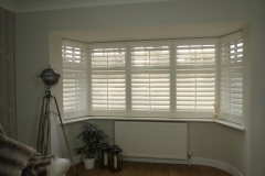Large Angled Bay Window in Lounge with Shutters Fitted