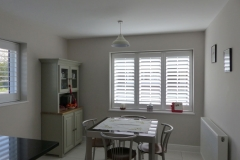 Three Panel TPost Shutters Fitted to Kitchen Diner Window
