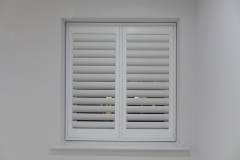 Simple Recess Window with TPost Shutters Fitted