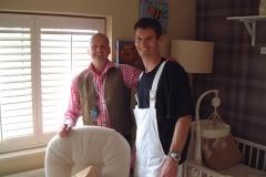 Sam Dunster and Richard Randalon ITV 60min makeover fitting shutters