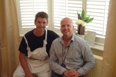 Sam Dunster and Richard Randal after fitting shutters on 60 minute makeover