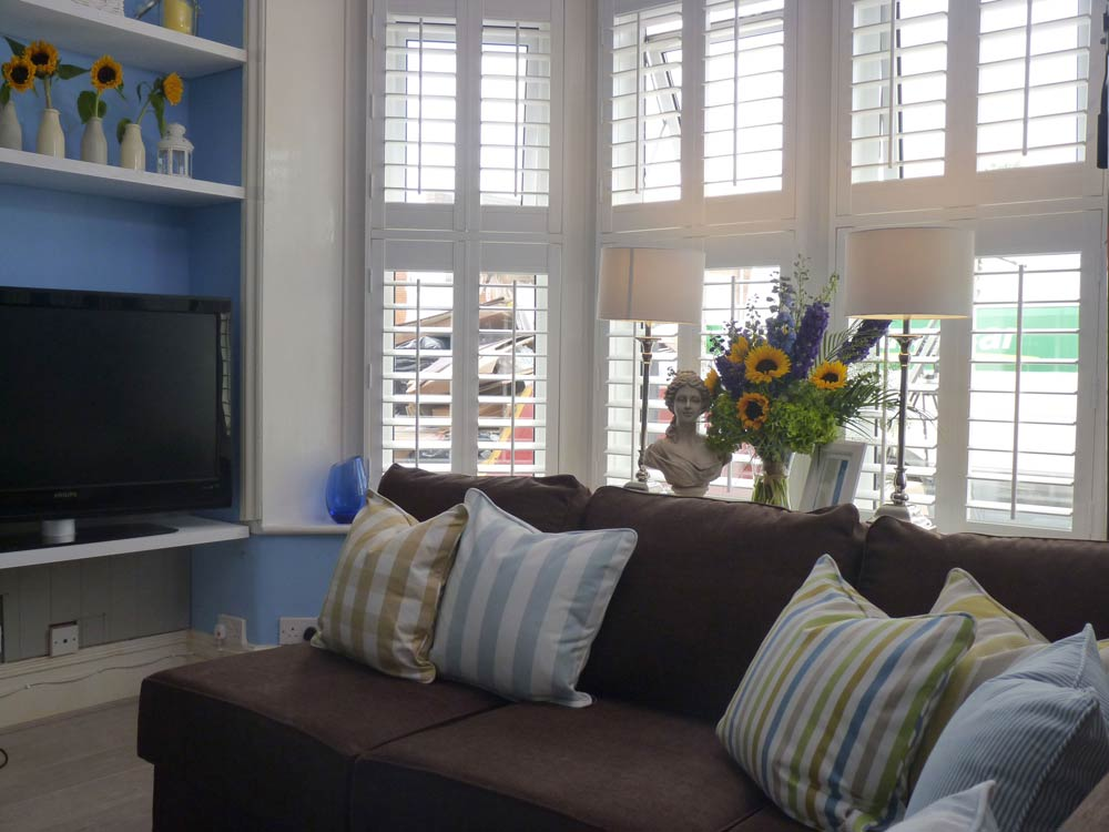 Fitted Vinyl shutters on ITV 60min makeover with Peter Andre as host