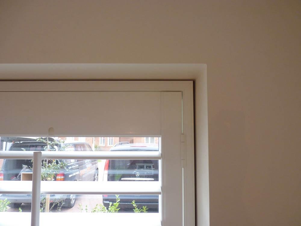 Fauxwood shadow gap on kitchen shutters