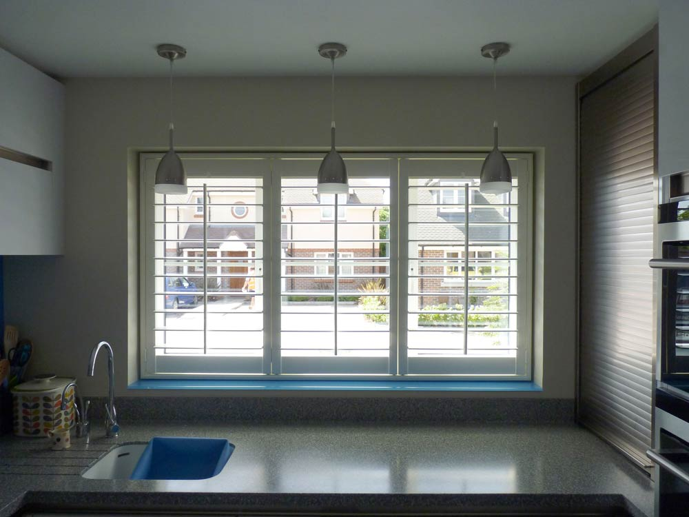Funky kitchen with cool window shutters