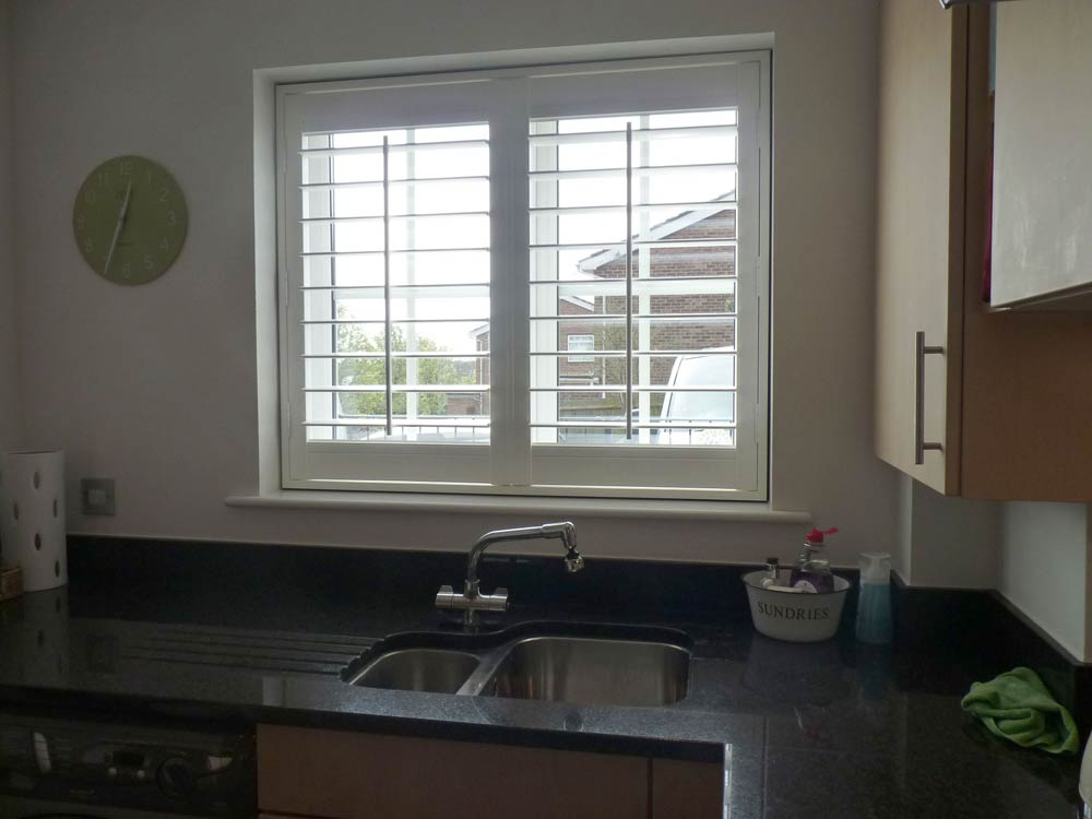 Kitchen vinyl shutters