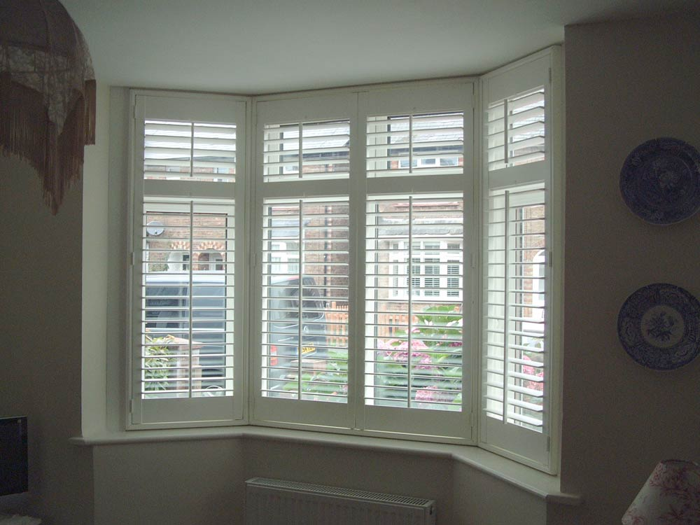Typical UPVC bay with shutters