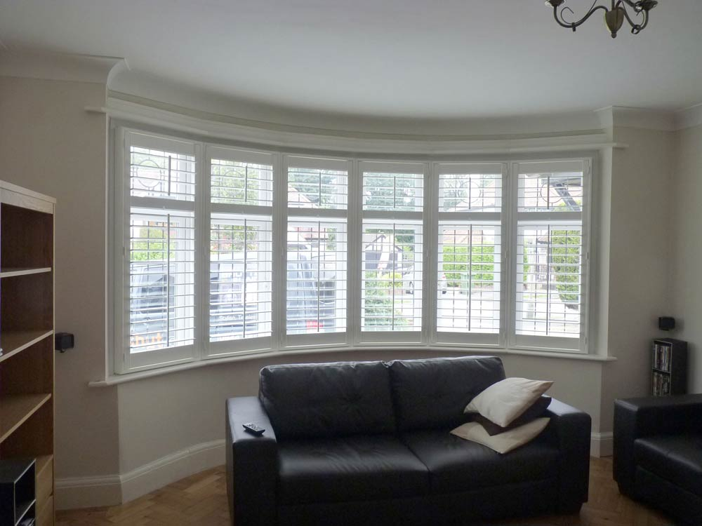 Modern bay with shutters fitted around to match