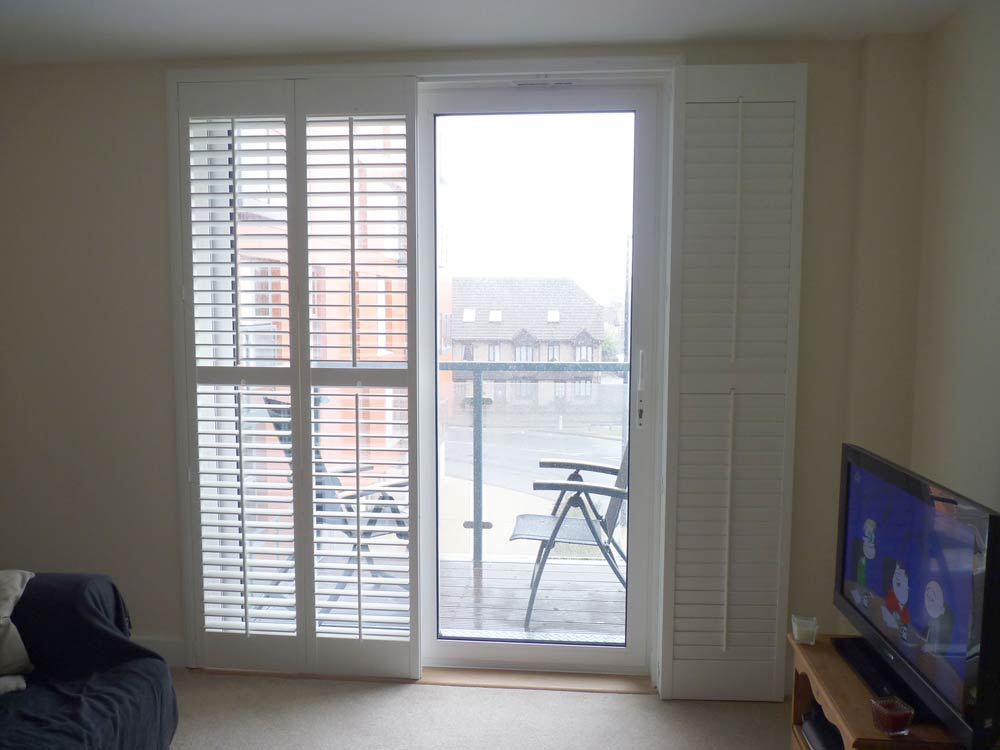 Lounge door with shutters fitted a deco frame