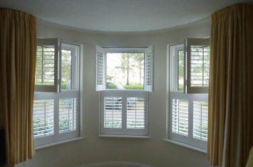 Interior window shutters design options