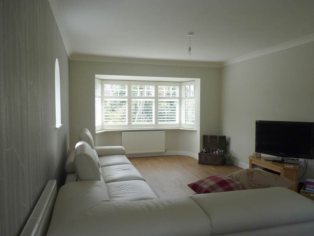 Lounge with bay shutters