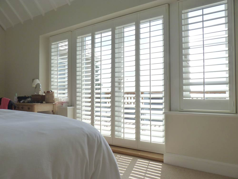 French door with window shutters fitted