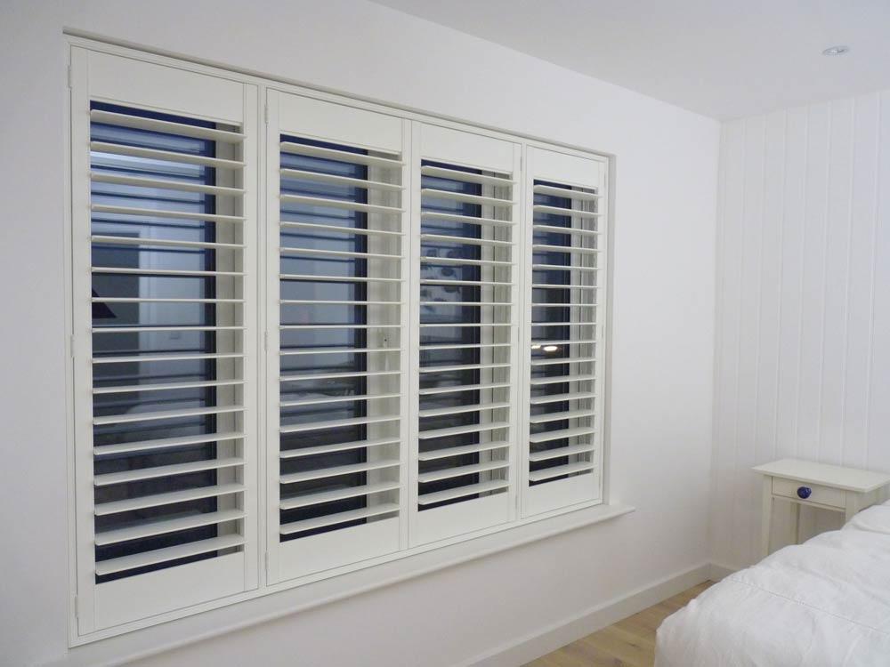 Shutter blinds in a bedroom
