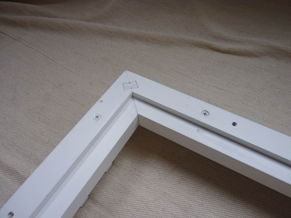 Partial shutter build out on the back of a L frame