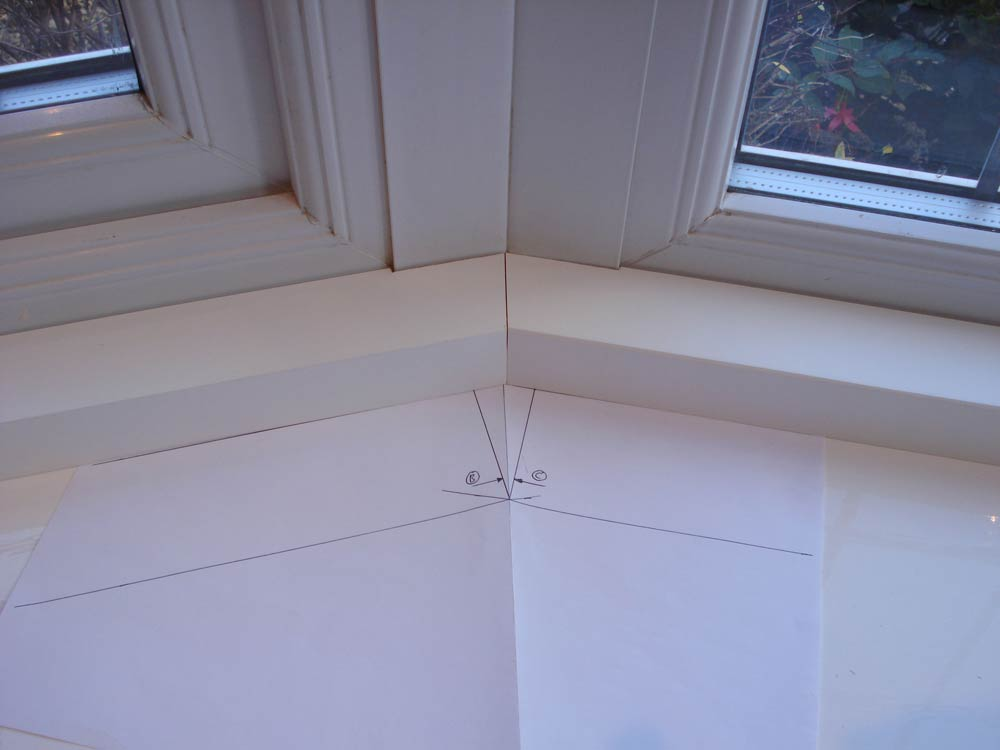 Paper template and battens