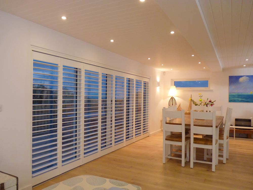Large doors with track shutters