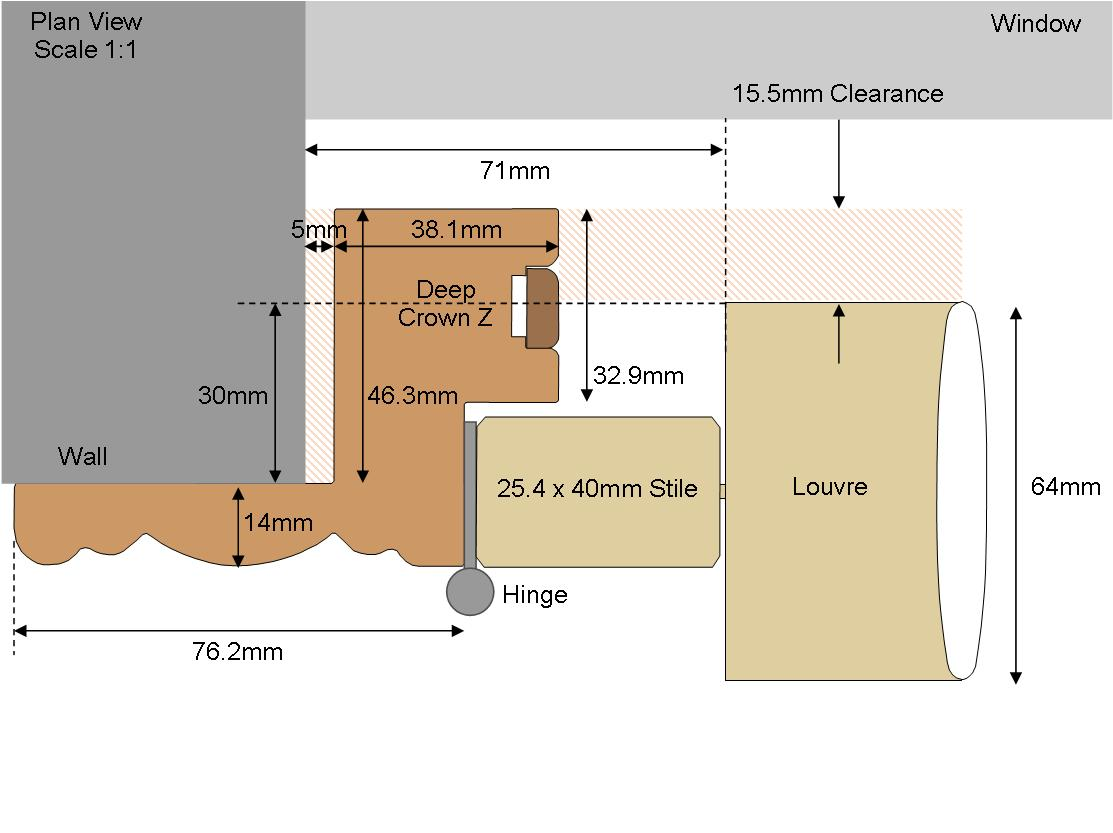 Technical drawing Deep Crown 64 Louvre