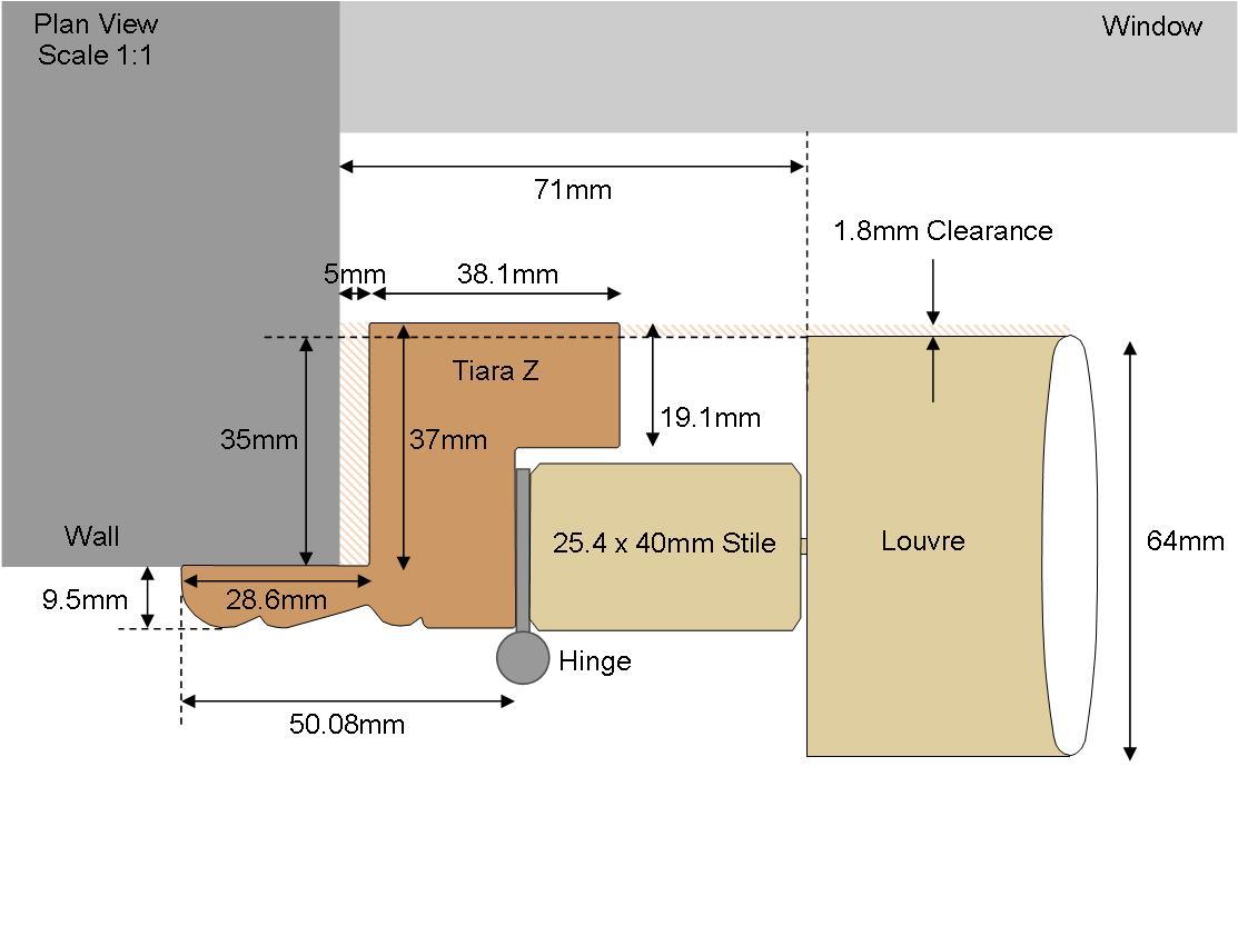 Technical drawing Tiara 64 Louvre