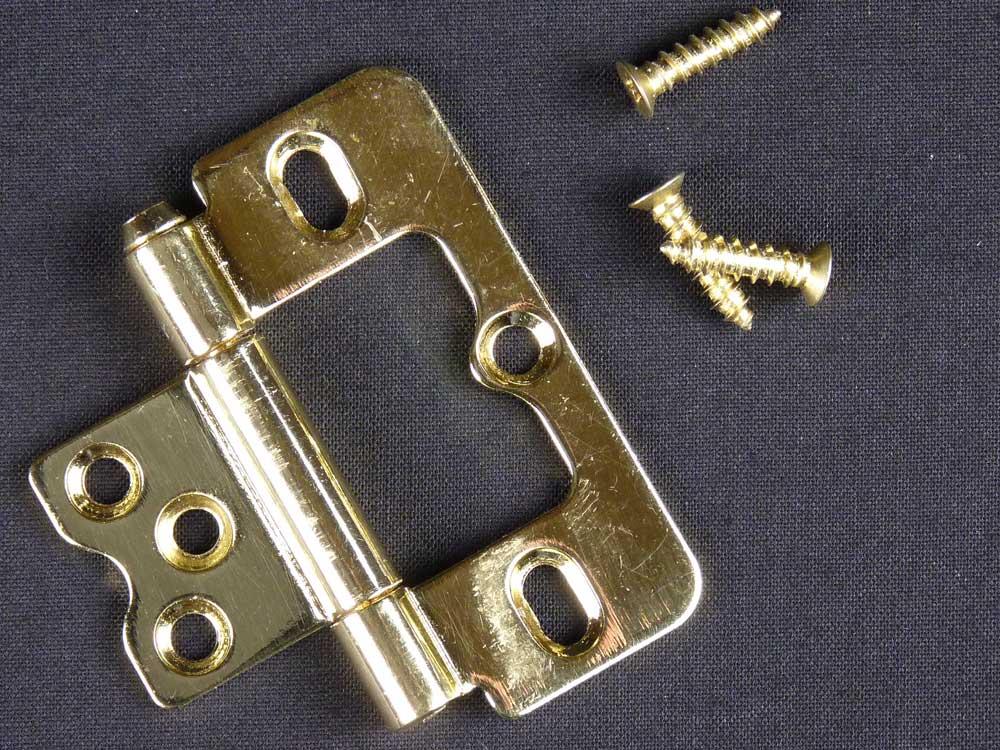 Bright Brass Shutter Hinge