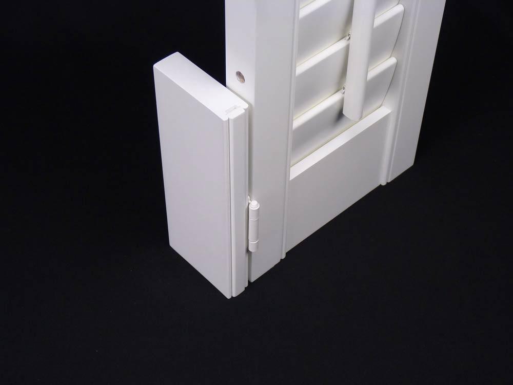 Cross section of a shutter hang strip