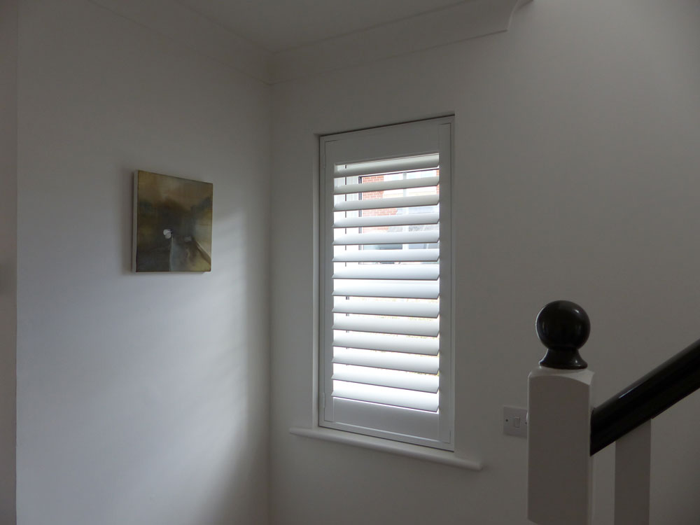 Full Height Shutters Fitted to Single Window in Hall