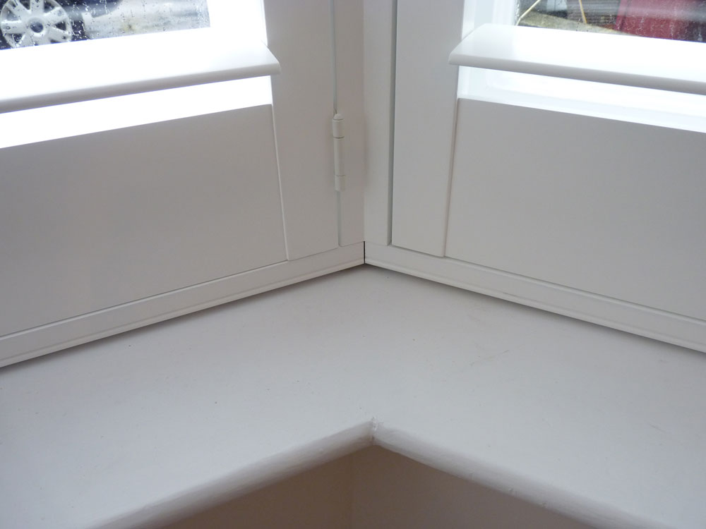 Close Up Of Shutters Fitted to Angled Bay Window