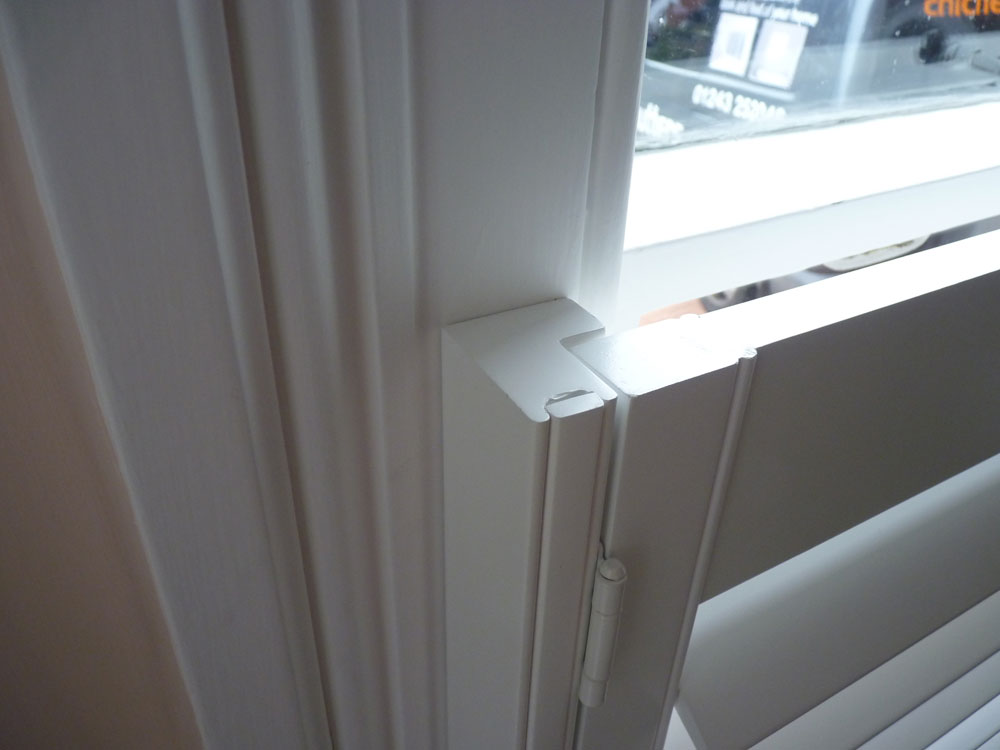Close Up of Top of Half Height Shutters
