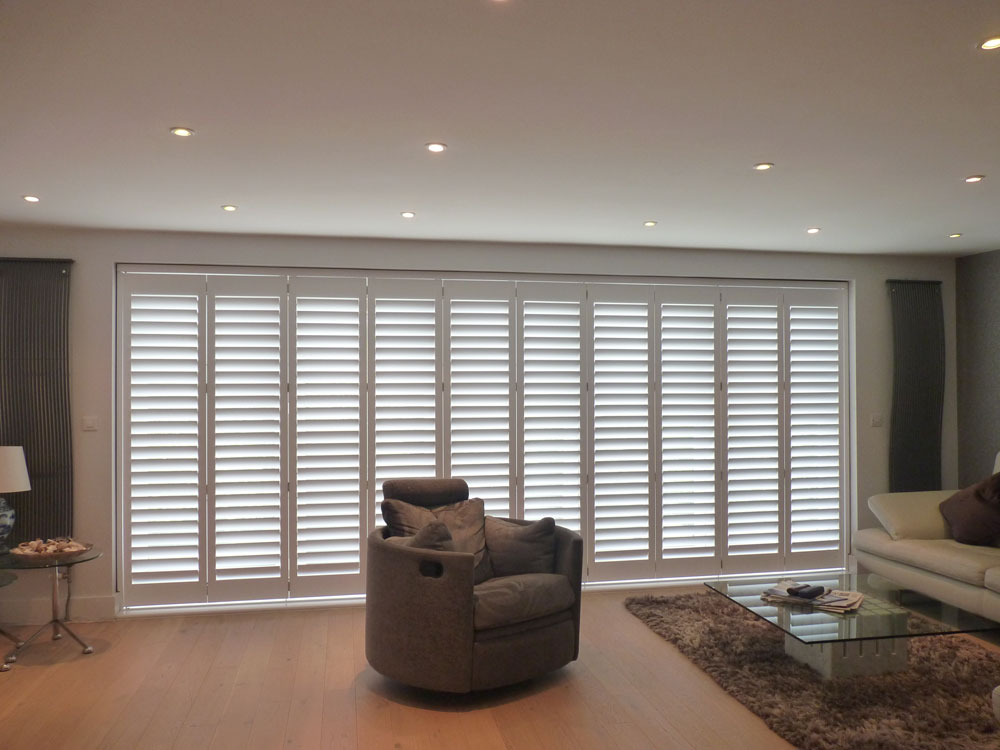 Track mounted shutters