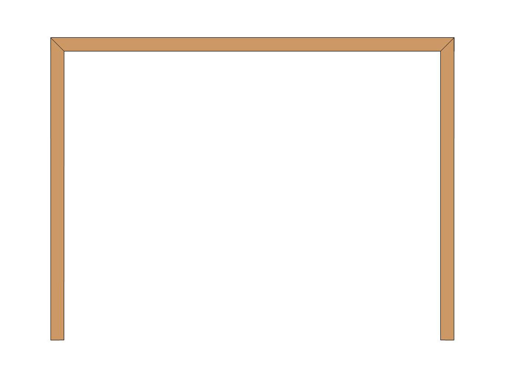 3 sided shutter frame no bottom