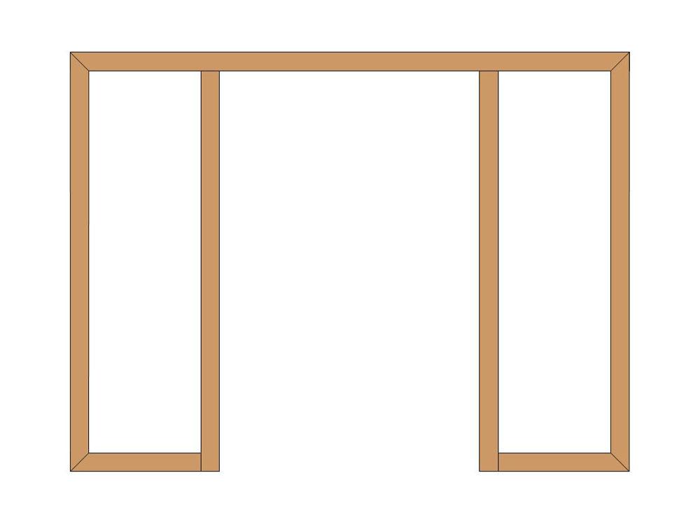 4 sided partial shutter frame