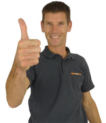 Sam thumbs up