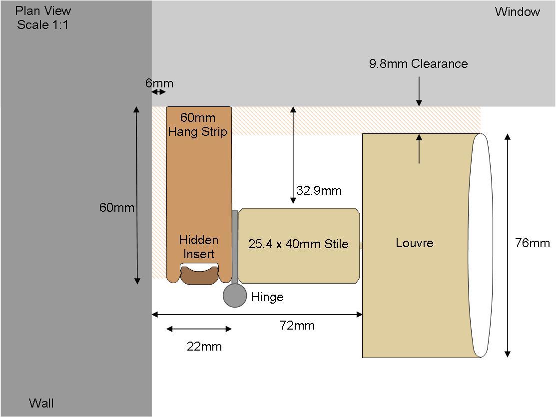60mm Hang Strip