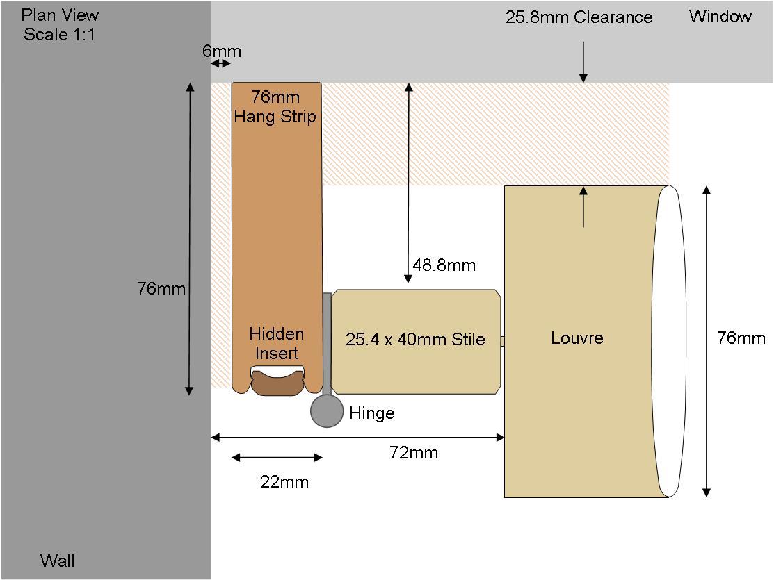 76mm Hang Strip