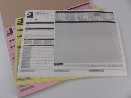 Shutter Measuring Survey Pad
