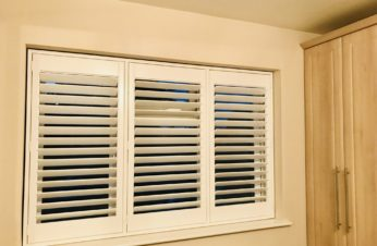 White DIY Shutters Fitted With D1 Fixings