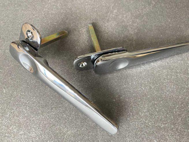 Extra low profile handles Polished Chrome